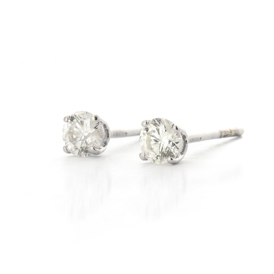 Diamond Stud Earrings in 9ct White Gold - 2278W | QP Jewellers
